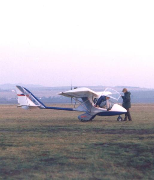 Skyboy prototype in Kunovice 1994, Rydlo and Vychopeř