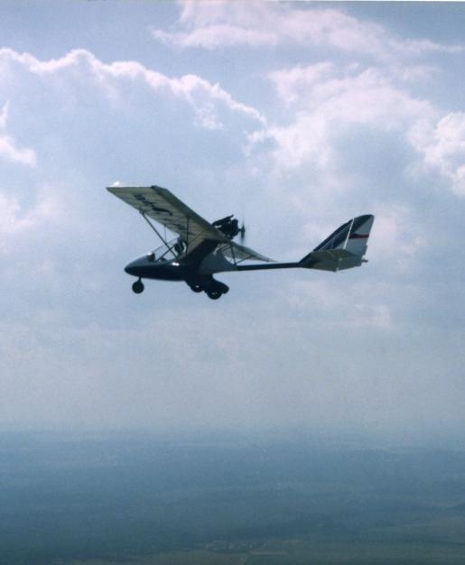 Skyboy prototype in flight