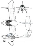 three-view drawing of P27 POC